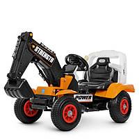 Детский электромобиль Трактор на резиновых колесах Bambi M 4260ABLR-7 оранжевый