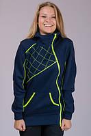 Женская трикотажная куртка  с начесом Sport (синий)