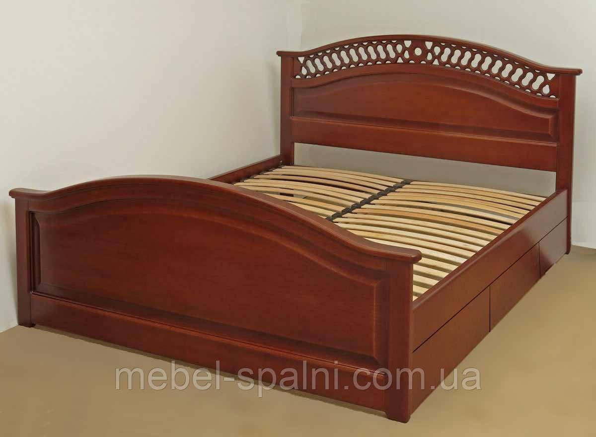 """Кровать двуспальная Одесса. Кровать деревянная с ящиками """"Глория"""" kr.gl6.3"""