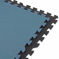 Захисний коврик SportVida Mat Puzzle Multicolor 12 мм SV-HK0177 Black/Blue