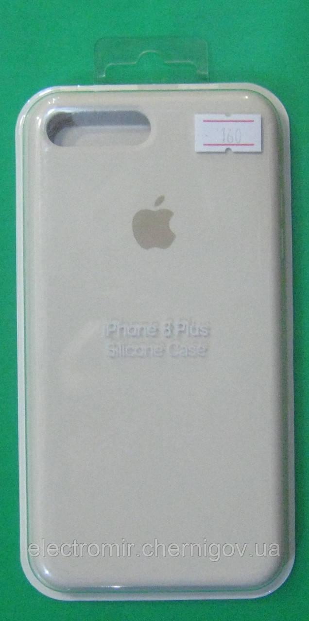 Чехол-бампер для телефона iPhone 8 Plus (кремовый)