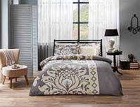 TAC евро комплект  постельного белья saten Delux Claudia gri