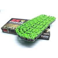 Мото цепь  520 EK CHAIN 520MVXZ2 CG - 120 Зеленая  размер цепи 520  на 120 звеньев