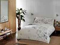 TAC евро комплект  постельного белья saten Delux Vanessa gri