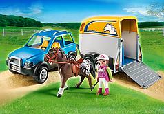 Конструктор Playmobil Джип с трейлером для перевозки лошадей 5223