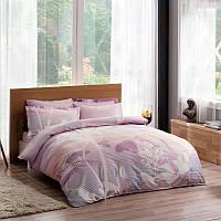 TAC евро комплект  постельного белья saten Delux Grisel lilac