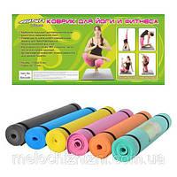 Гимнастический коврик (коврик для фитнесса, йогамат, мат для йоги)