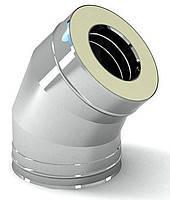 Колено 45 с теплоизоляцией нерж\нерж Версия Люкс толщина 0.8 мм D 100-300 мм