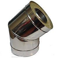 Колено 45 с теплоизоляцией нерж\оц Версия Люкс толщина 0.8 мм D 100-300 мм