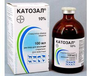 Катозал 10% 100 мл Bayer (Германия) стимулятор обмена веществ для животных и птицы.