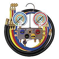 Манометрический коллектор 4-х вентельный, шланг 3+1/150см (Mastercool, США) 96261-МВ