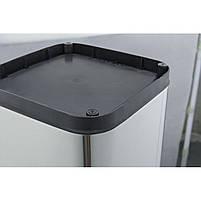 Ведро для мусора JAH 25 л круглое металлик без крышки и внутреннего ведра, фото 5