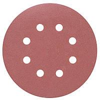 Шлифовальный круг 8 отверстий Ø125мм P240 (10шт) SIGMA (9122711), фото 1