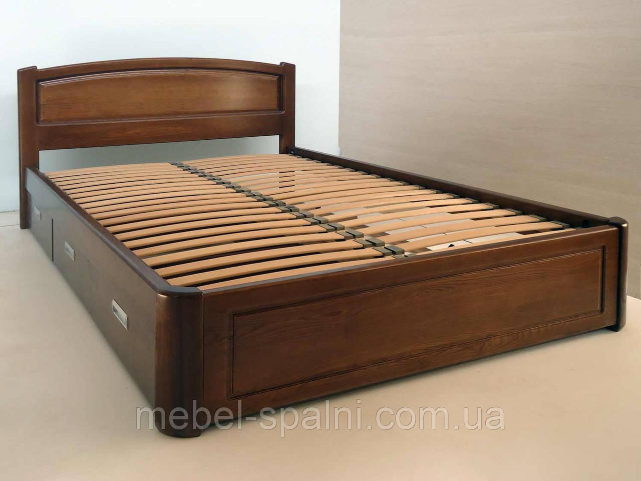 """Двуспальная кровать с ящиками. Кровать деревянная """"Татьяна"""" kr.tn6.1"""