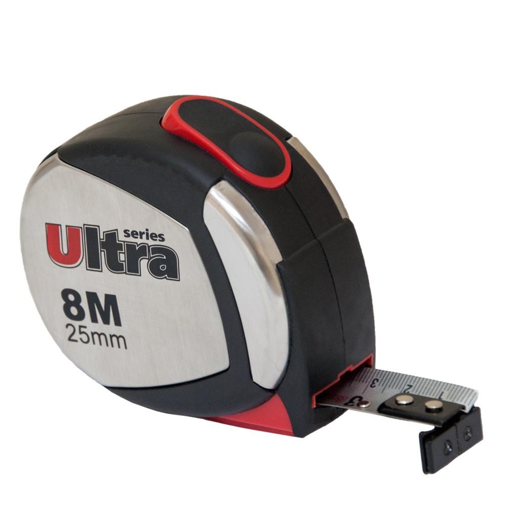 Рулетка магнитная, нейлоновое покрытие  8м×25мм ULTRA (3822082)