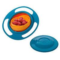 Детская тарелка непроливайка Gyro Bowl, посуда неваляшка для детей