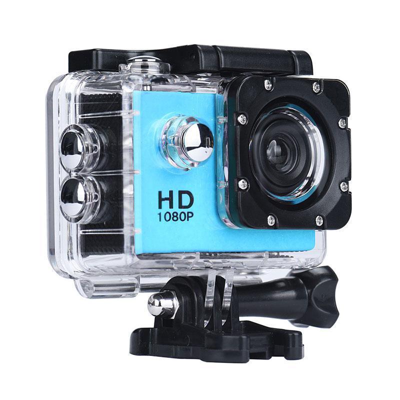 Экшн камера, налобная, водонепроницаемая, A7 Sports Cam, HD 1080p, для подводной съемки, голубая