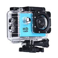 Экшн камера, налобная, водонепроницаемая, A7 Sports Cam, HD 1080p, для подводной съемки, голубая, фото 1