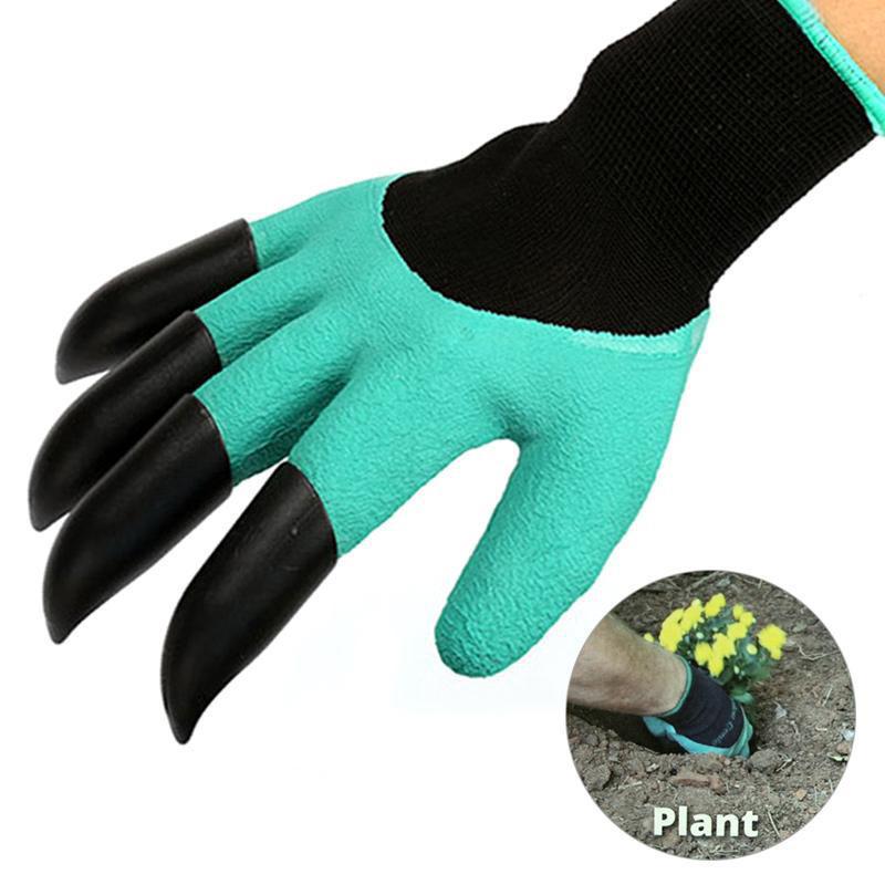 Садовые перчатки с когтями Garden Genie Gloves (Гарден Джени Гловес) - резиновые