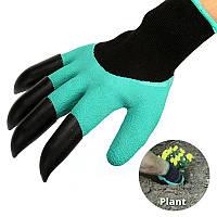 Садовые перчатки с когтями Garden Genie Gloves (Гарден Джени Гловес) - резиновые, фото 1