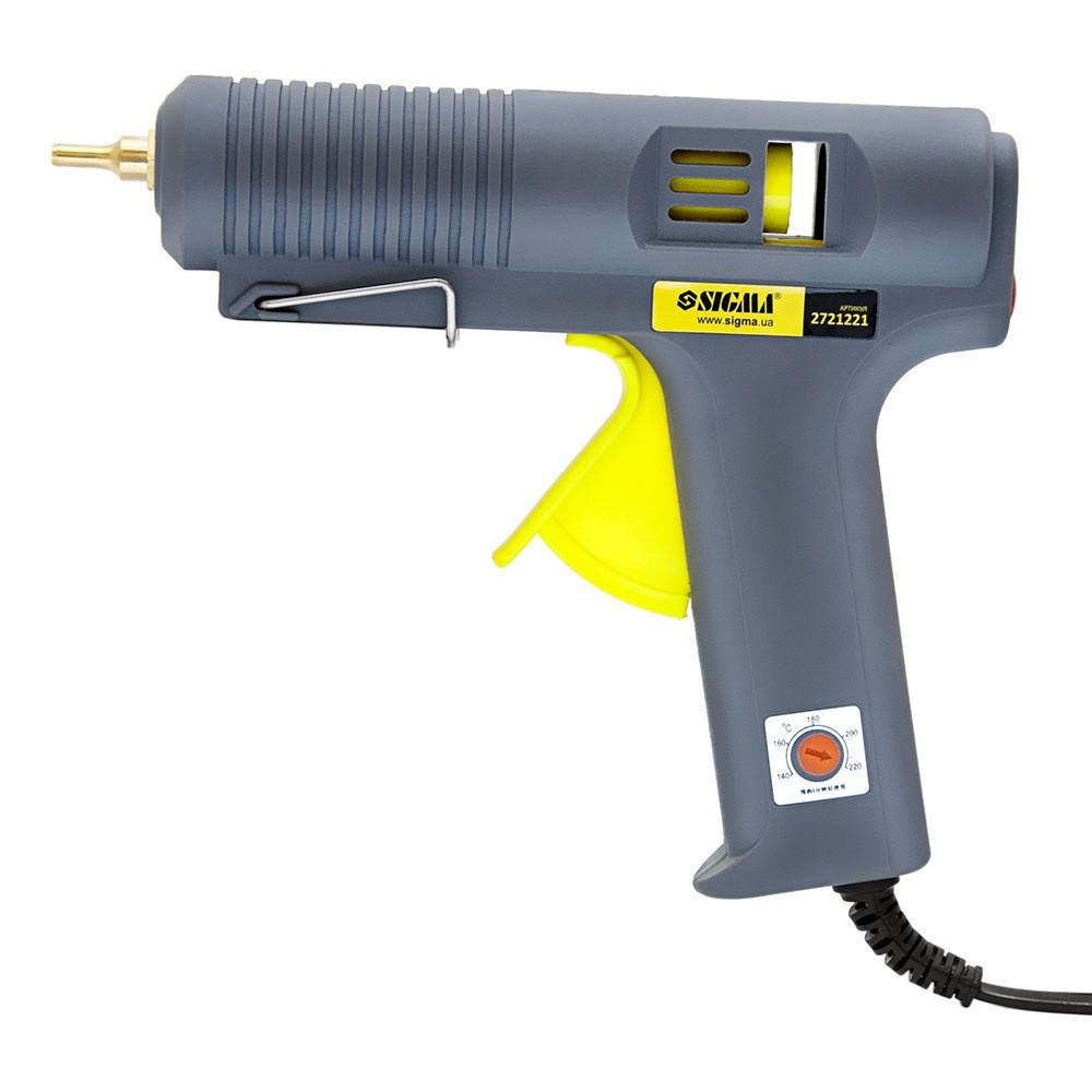 Пістолет термоклеевой з регулюванням температури (140-220°C) Ø11,2мм 500Вт Sigma (2721221)