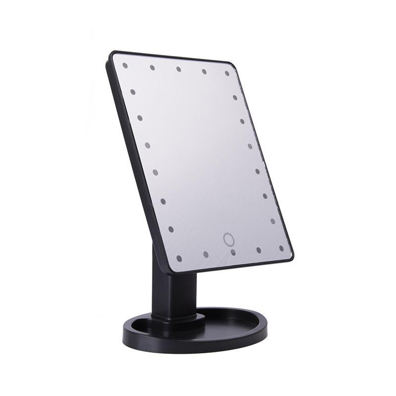 Зеркало с подсветкой, Magic Makeup Mirror, ЛЕД зеркало (22 LED), настольное, для макияжа, чёрное