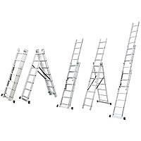 Лестница раскладывающаяся универсальная 9 ступенек FLORA (5032334)