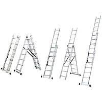 Лестница раскладывающаяся универсальная 12 ступенек FLORA (5032354)