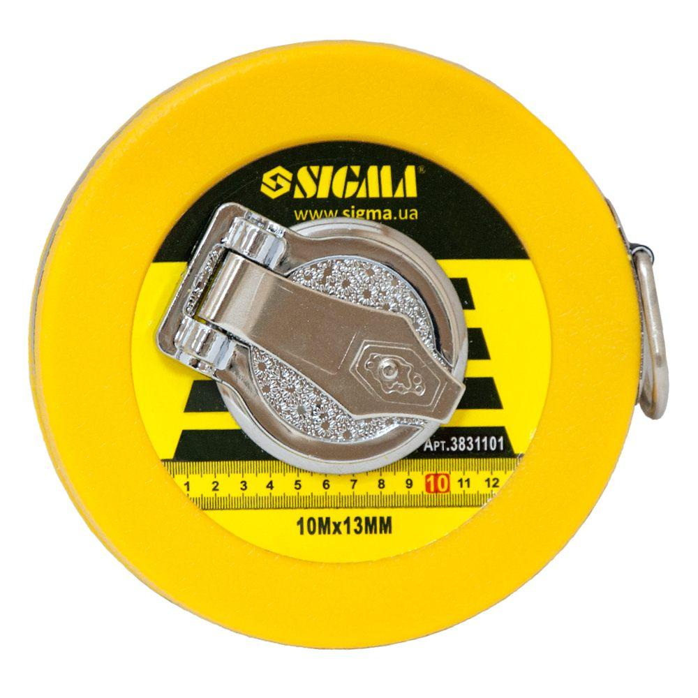 Рулетка стекловолокно 10м×13мм SIGMA (3831101)