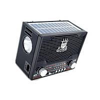 Радиоприемник Golon NS 1556 с солнечной панелью и фонарем MP3 USB