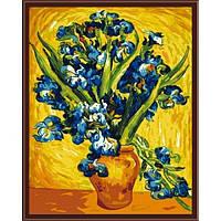 Набор для рисования по номерам Идейка Ирисы в вазе. Ван Гог
