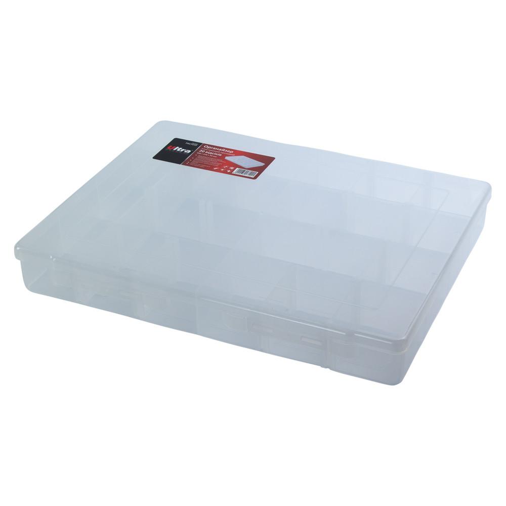 Органайзер пластиковый прозрачный 20 отсеков 350×270×50мм ULTRA (7417122)