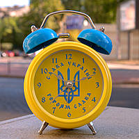 "Будильник, часы ""Патриот Украины"" желтый, фото 1"