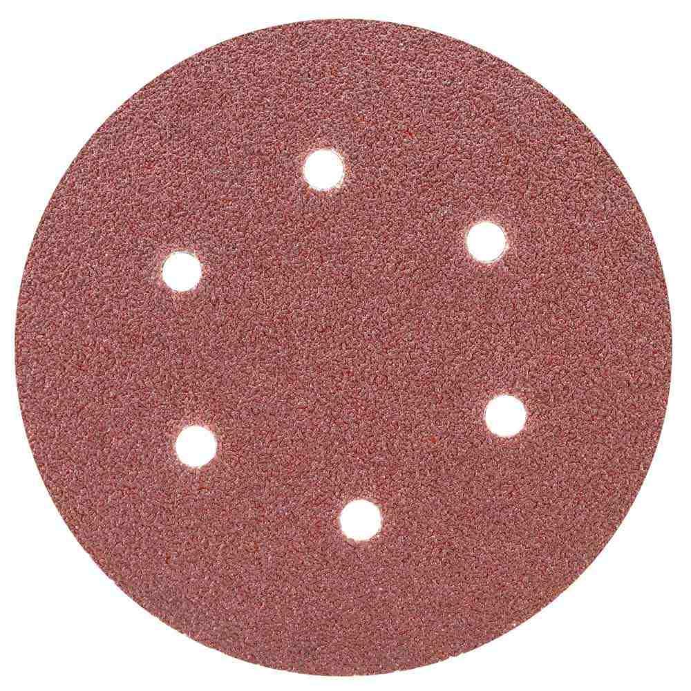 Шлифовальный круг 6 отверстий Ø150мм P60 (10шт) SIGMA (9122241)