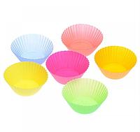 Форма для выпечки (выпечки) кексов (кексница) силикон набор 12шт Stenson (HH-047)