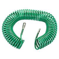 Шланг спиральный полиуретановый (PU) 15м 6.5×10мм REFINE (7012181), фото 1