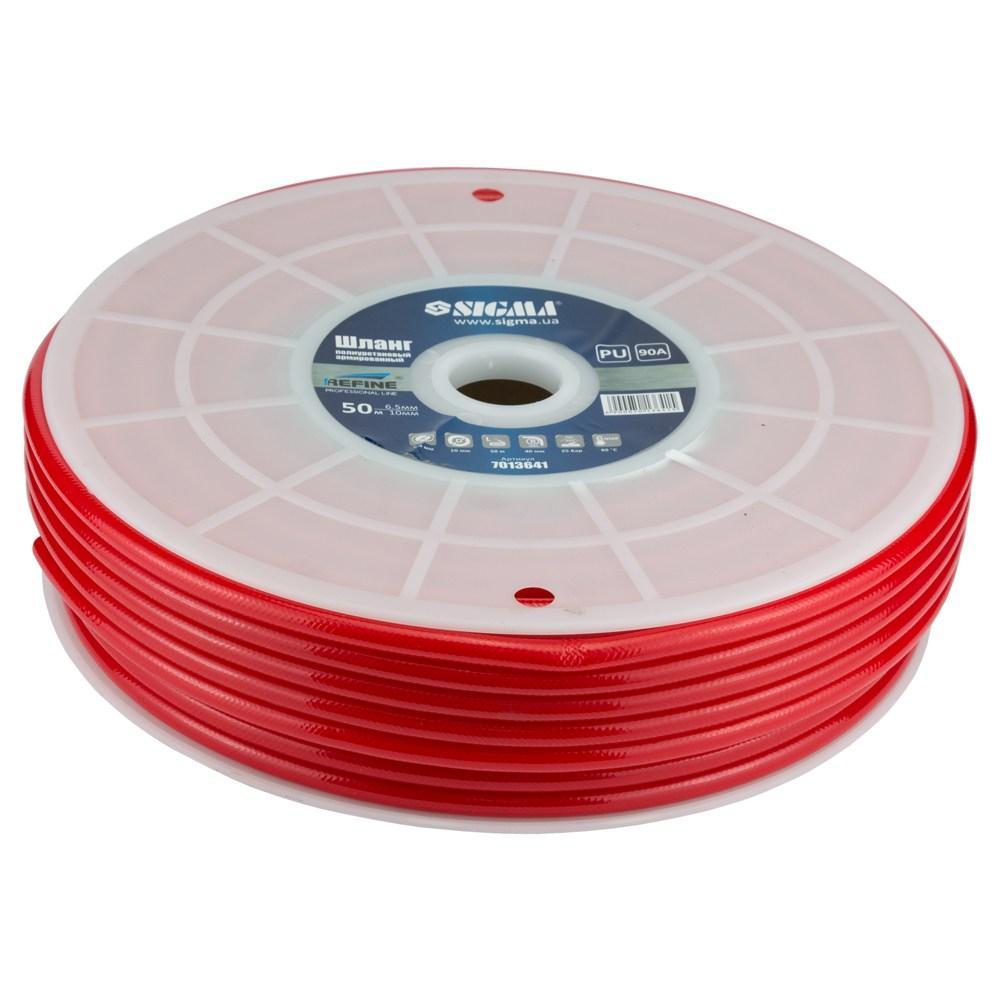 Шланг в бухте полиуретановый (PU) армированный 50м 6.5×10мм REFINE (7013641)