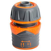 """Коннектор 1/2"""" быстросъёмный для шланга 1/2"""" с замком FLORA (5015464), фото 1"""