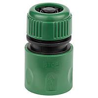 """Коннектор 1/2"""" быстросъёмный аквастоп для шланга 1/2"""" GRAD (5016115), фото 1"""