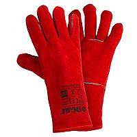 Перчатки краги сварщика р10.5, класс ВС, длина 35см (красные) SIGMA (9449361), фото 1