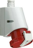 Силовая накладная розетка 16 А ампер IP67 3P+E четыре полюса 400В цена купить силовые промышленные разъемы