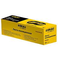 Изолента ПВХ (черная) 0.13мм×19мм×10м Premium SIGMA (8411601)