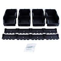 Набор лотков для метизов 8шт с креплениями (черный) SIGMA (7418371)