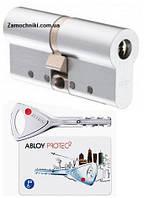 Цилиндр Abloy Protec 87мм. (31х56) ключ-ключ хром