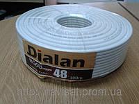 Кабель DIALAN RG6U-E 32 (100 м.) 75 Ом белый