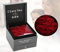 Подарункова коробка з трояндами з мила Best Wishes Red Rose, фото 1