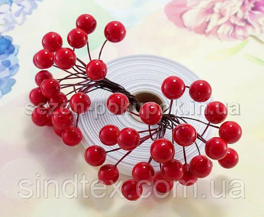 (Пучок) Калина лаковая для рукоделия  Ø12мм, 40 ягодок Цвет - Красный (сп7нг-1009), фото 2