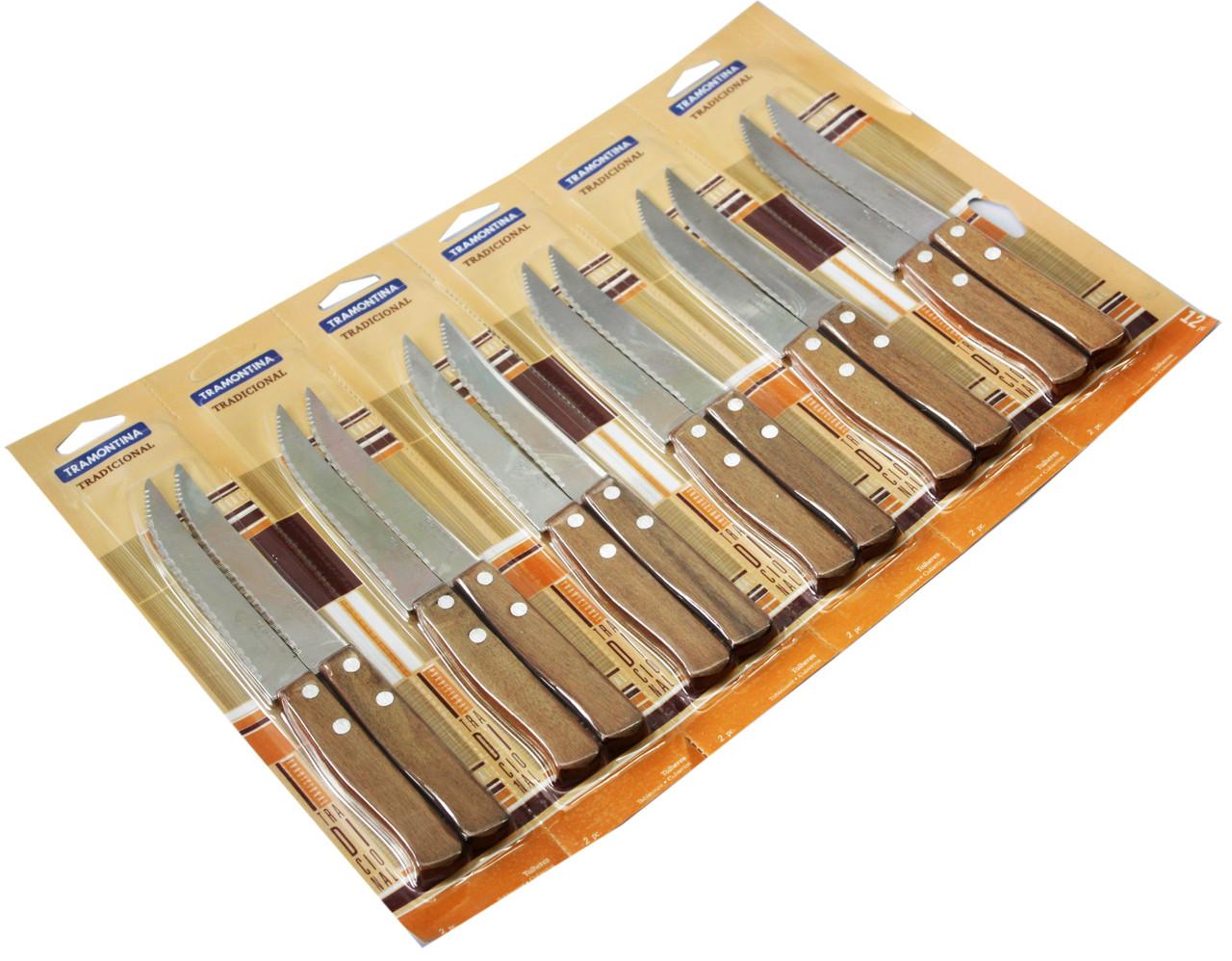 """Ножи """"Tramontina"""" для томатов c деревянной ручкой"""