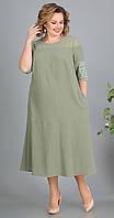 Платье Novella Sharm-3258 -1 белорусский трикотаж, зеленый, 66