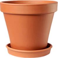 Горшок для растения ТЕРРА Гладкий 19 х 21 см Коричневый (000001400)